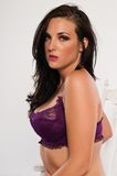 Purple lingerie Stock Photo