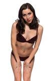 Purple lingerie Stock Images