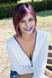 Purple Lips Stock Photography