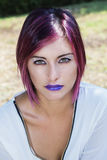 Purple Lips Royalty Free Stock Photo