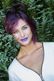 Purple Lips Royalty Free Stock Photography
