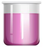 Purple liquid in beaker Royalty Free Stock Photos
