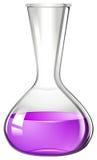 Purple liquid in beaker Stock Image