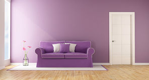 Purple living room Stock Photos