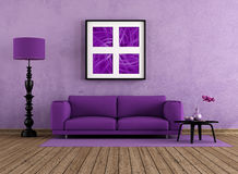 Purple living room Royalty Free Stock Photography