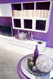 Purple living room Royalty Free Stock Photo