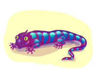 Purple lizard Stock Images