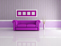 Purple lounge Stock Photo