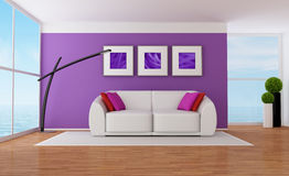 Purple lounge Royalty Free Stock Photos