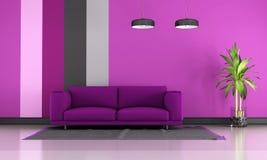 Purple lounge Royalty Free Stock Image