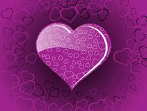 Purple love background with heart Stock Image