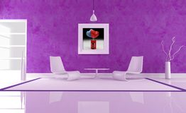 Purple love lounge Stock Image