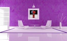 Purple love lounge stock image