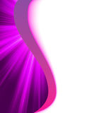 Purple luminous rays. Royalty Free Stock Photo