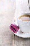 Purple macaron Royalty Free Stock Image