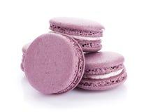 Purple macaron cookies royalty free stock images