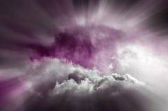 Purple magical sky Stock Image