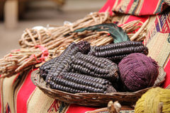 Purple Maize use as Natural Dyes Stock Photo