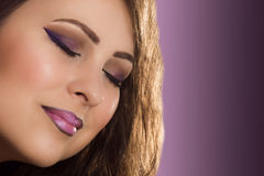 Purple make up Stock Photography