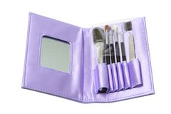 Purple make up set, opened Stock Photo