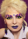 Purple makeup. Royalty Free Stock Image