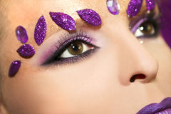 Purple makeup. Royalty Free Stock Photography