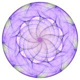 Purple mandala. For meditation on the white Stock Images