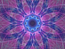 Purple mandala. Abstract fractal background created with apophysis Stock Image