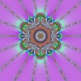 Purple mandala. Abstract illustration created with the fractal explorer Royalty Free Stock Photo