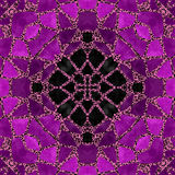 Purple mandala Stock Images