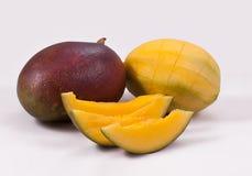 A purple mango. Mango on a white background Stock Image