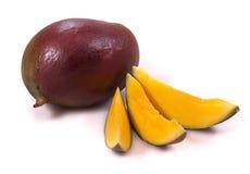 A purple mango. Mango on a white background Stock Photos