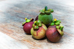 The purple mangosteen Royalty Free Stock Photography