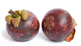 Purple mangosteen - tropical fruit Royalty Free Stock Images
