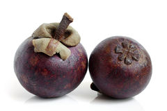 Purple mangosteen Royalty Free Stock Photos