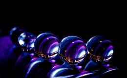 Purple marbles Stock Photo