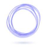 Purple marker circle. Stock Photo