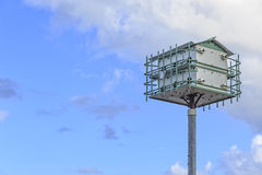 Purple Martin Bird House. A purple martin bird house with copy space Royalty Free Stock Images