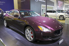 Purple maserati quattroporte car Stock Photos