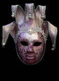 Purple mask from Florence. Italy used to be very popular centuries ago among florentin high society parties and carnivals royalty free stock photography