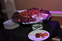 Purple Meatballs Stock Photography