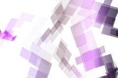 Purple Mechanical Tech Blocks Stock Image