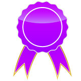 Purple medal Stock Photo