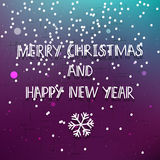 Purple Merry Christmas card Stock Photo