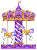 A purple merry-go-round ride. Lllustration of a purple merry-go-round ride on a white background Royalty Free Stock Photo