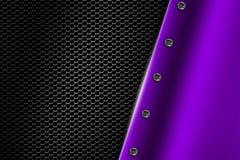 Free Purple Metal Background With Rivet On Gray Metallic Mesh. Royalty Free Stock Image - 78618306