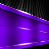 Purple metal frame on black metallic mesh. Metal background. 3d illustration Stock Images