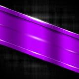 Purple metal frame on black metallic mesh. Metal background. 3d illustration Royalty Free Stock Photography