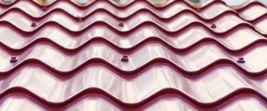 Purple Metal Tile Roof Stock Photo