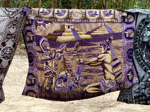 Purple Mexican Tapestry Stock Photo